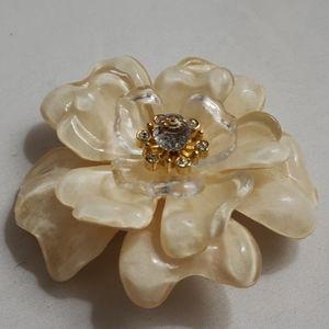ST.JOHN Ivory Flower Brooch